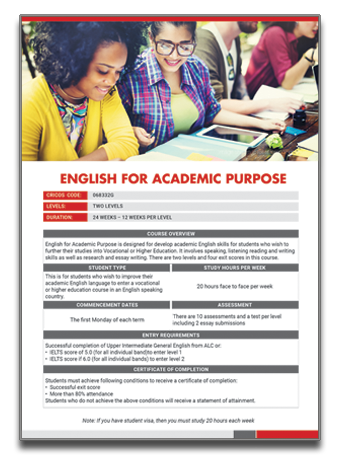 ALC-English for Academic Purpose